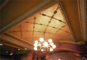 Extensive collection of ornamental interior plaster and stone mouldings, decorative panels, ceiling medallions and designs